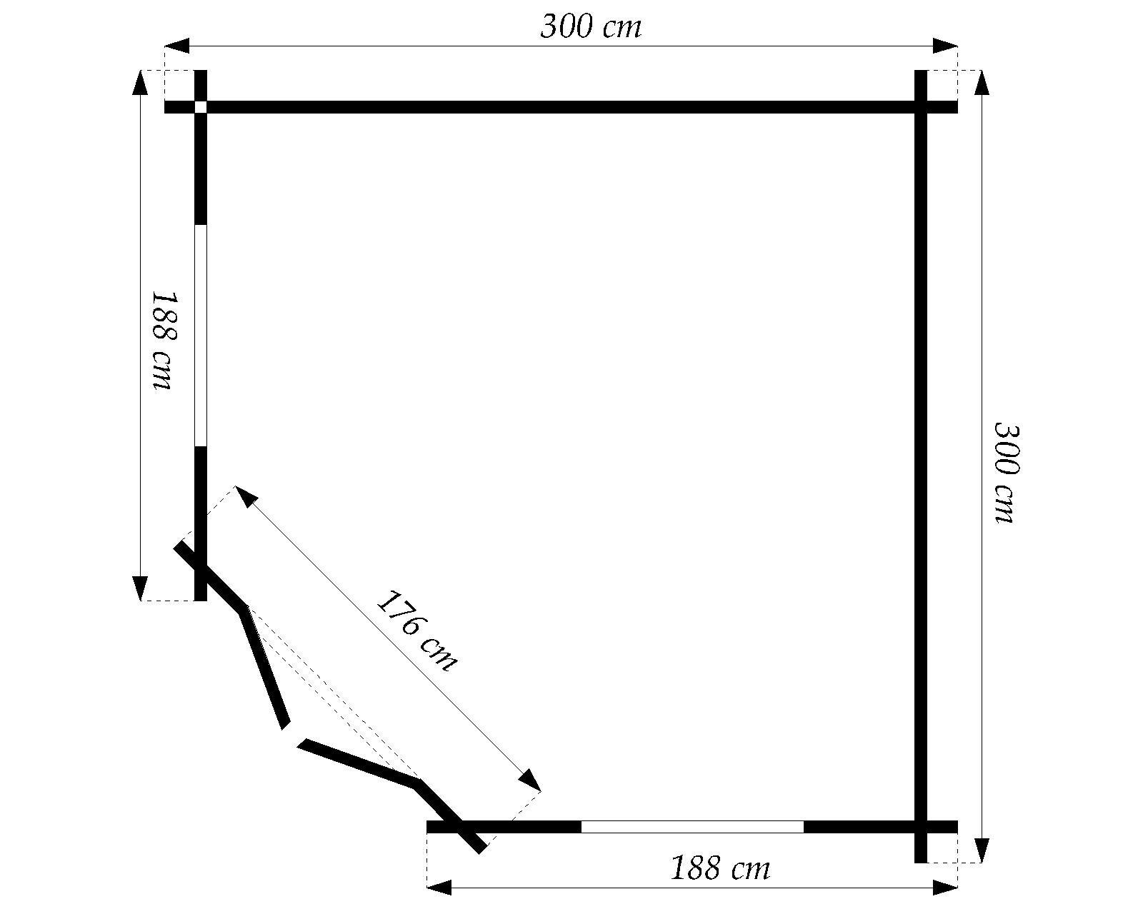 5 eck gartenhaus 28 mm nwh leonie 28029. Black Bedroom Furniture Sets. Home Design Ideas
