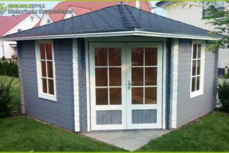 5 eck gartenhaus 28 mm nwh trier 28042 naturholz gartenhaus. Black Bedroom Furniture Sets. Home Design Ideas