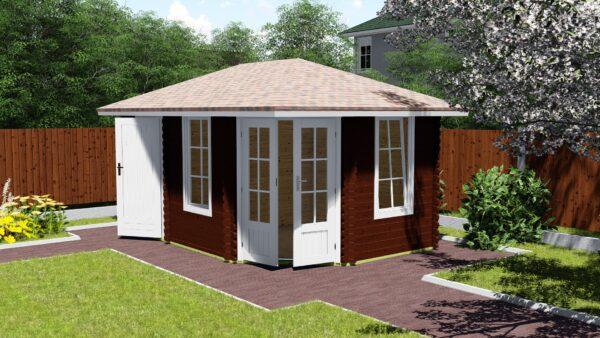 5-eck Gartenhaus 40 mm NWH Haag 40009-1