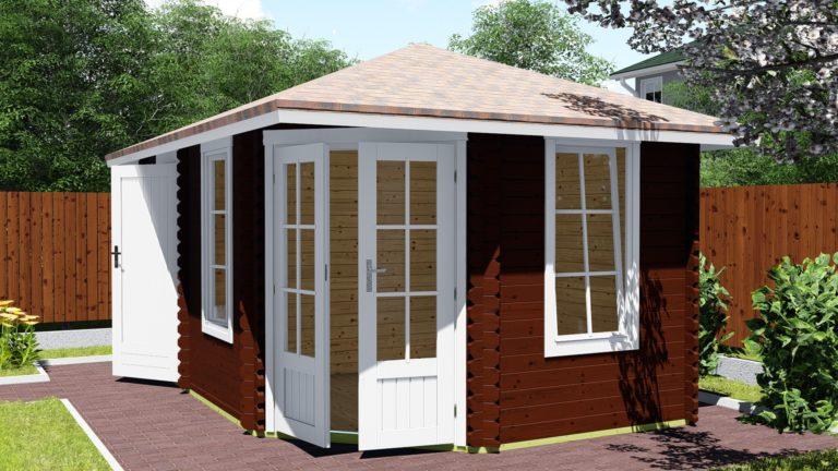 5-eck Gartenhaus 40 mm NWH Haag 40009-4