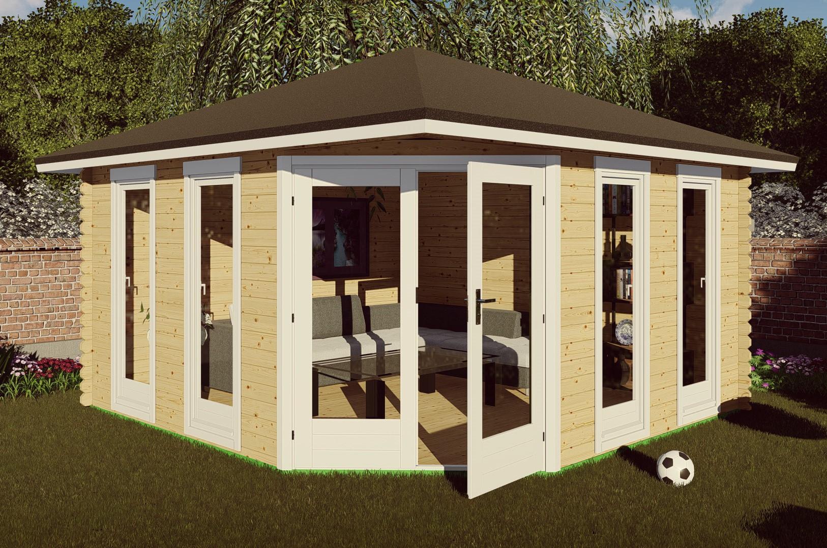 5-eck Gartenhaus 40 mm NWH Emden 40063