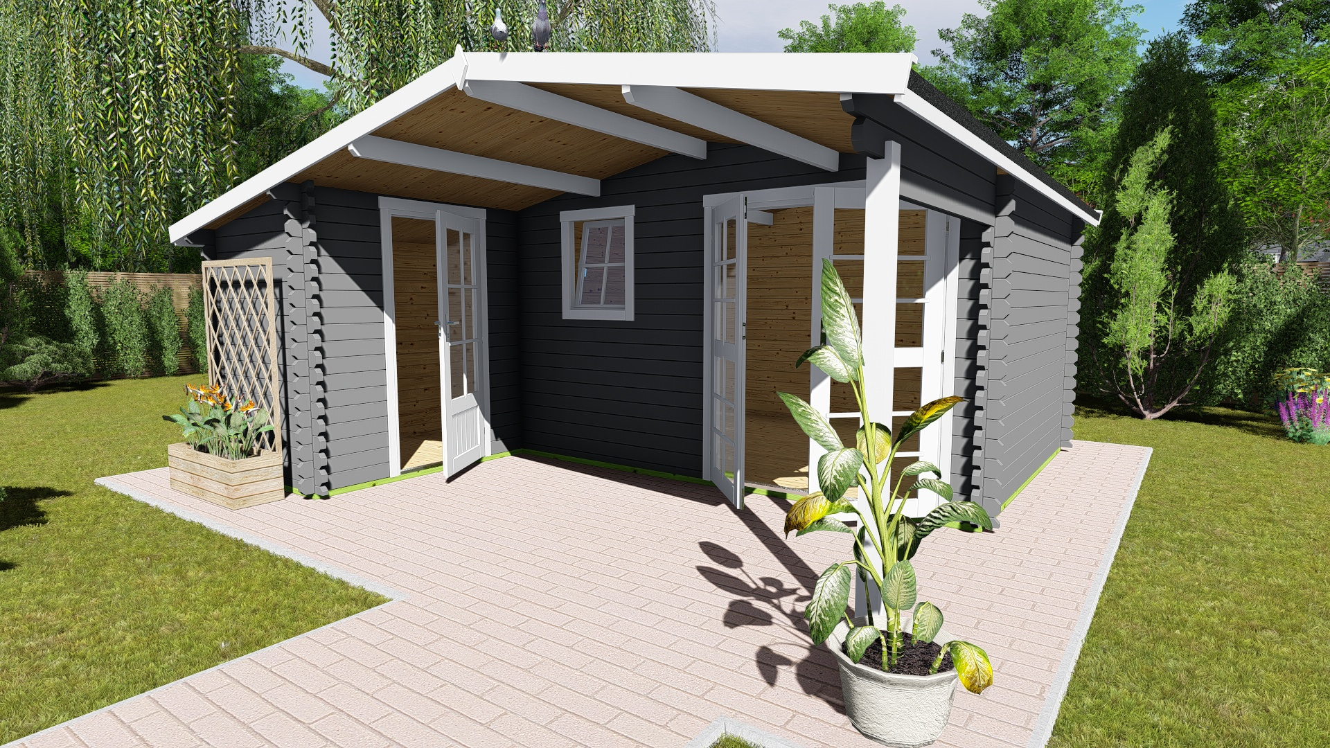 Gartenhaus 40 mm NWH Birmingham 40005