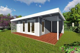 Gartenhaus mit Terrasse und Anbau günstig kaufen - Naturholz ...