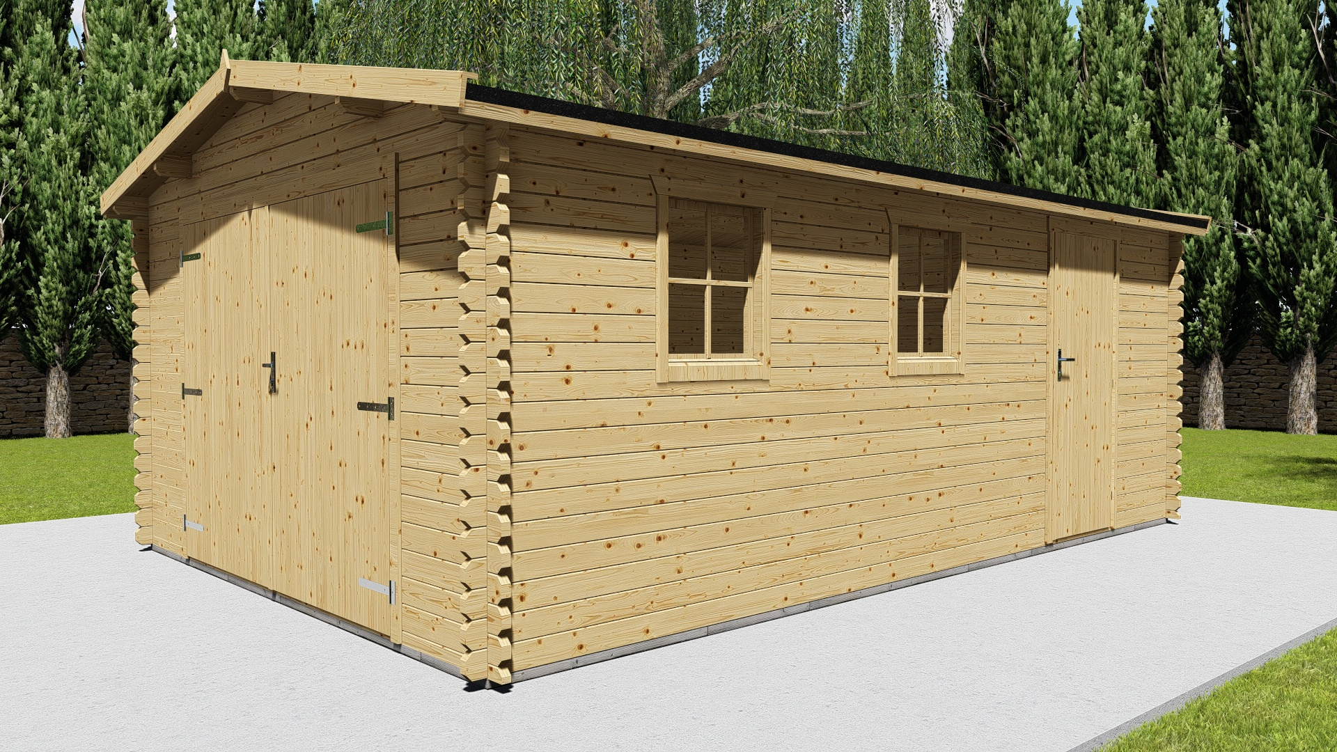 Holzgarage 40 mm NWH Vigo 40013