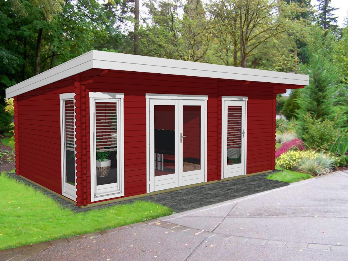 gartenhaus holz flachdach modern. Black Bedroom Furniture Sets. Home Design Ideas