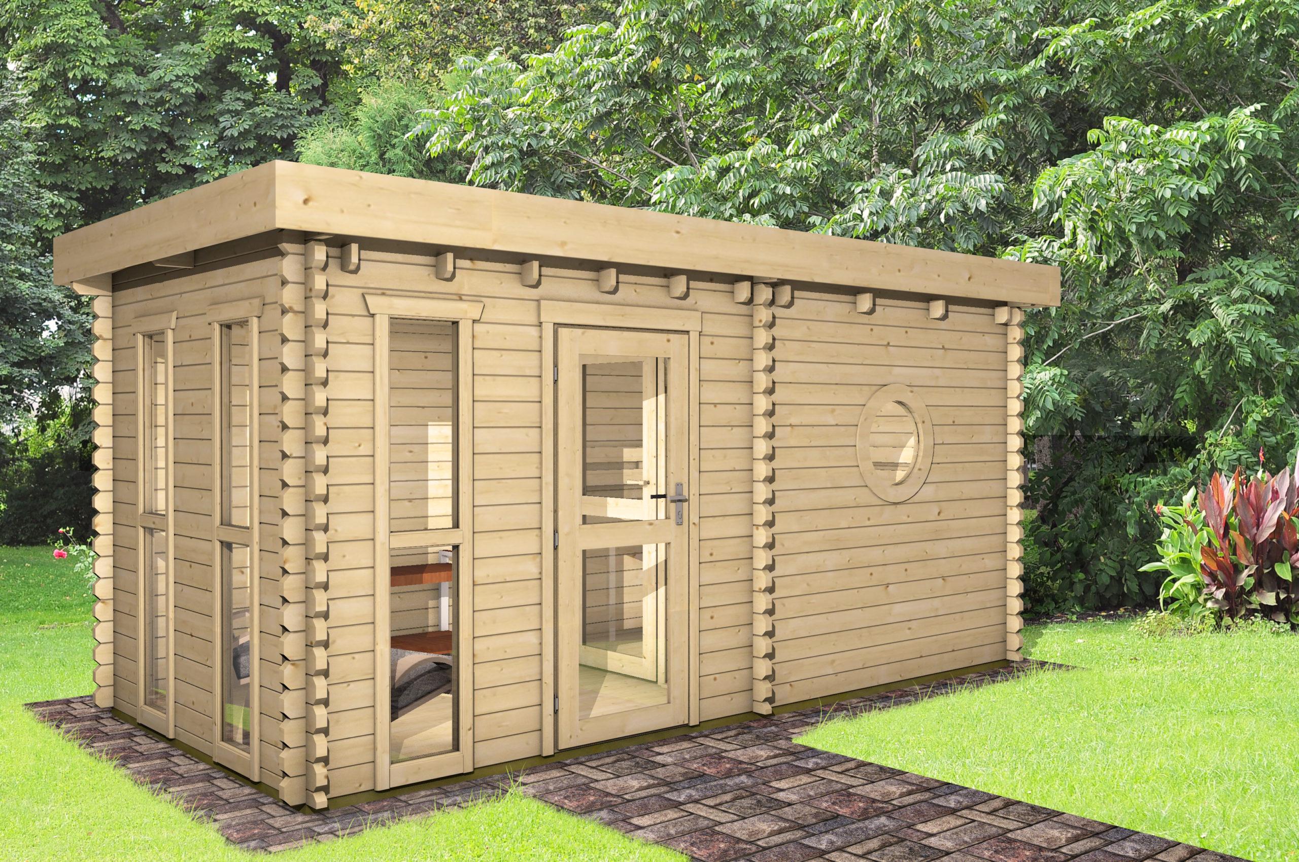 saunahaus 45 mm nwh oldenburg 45003. Black Bedroom Furniture Sets. Home Design Ideas