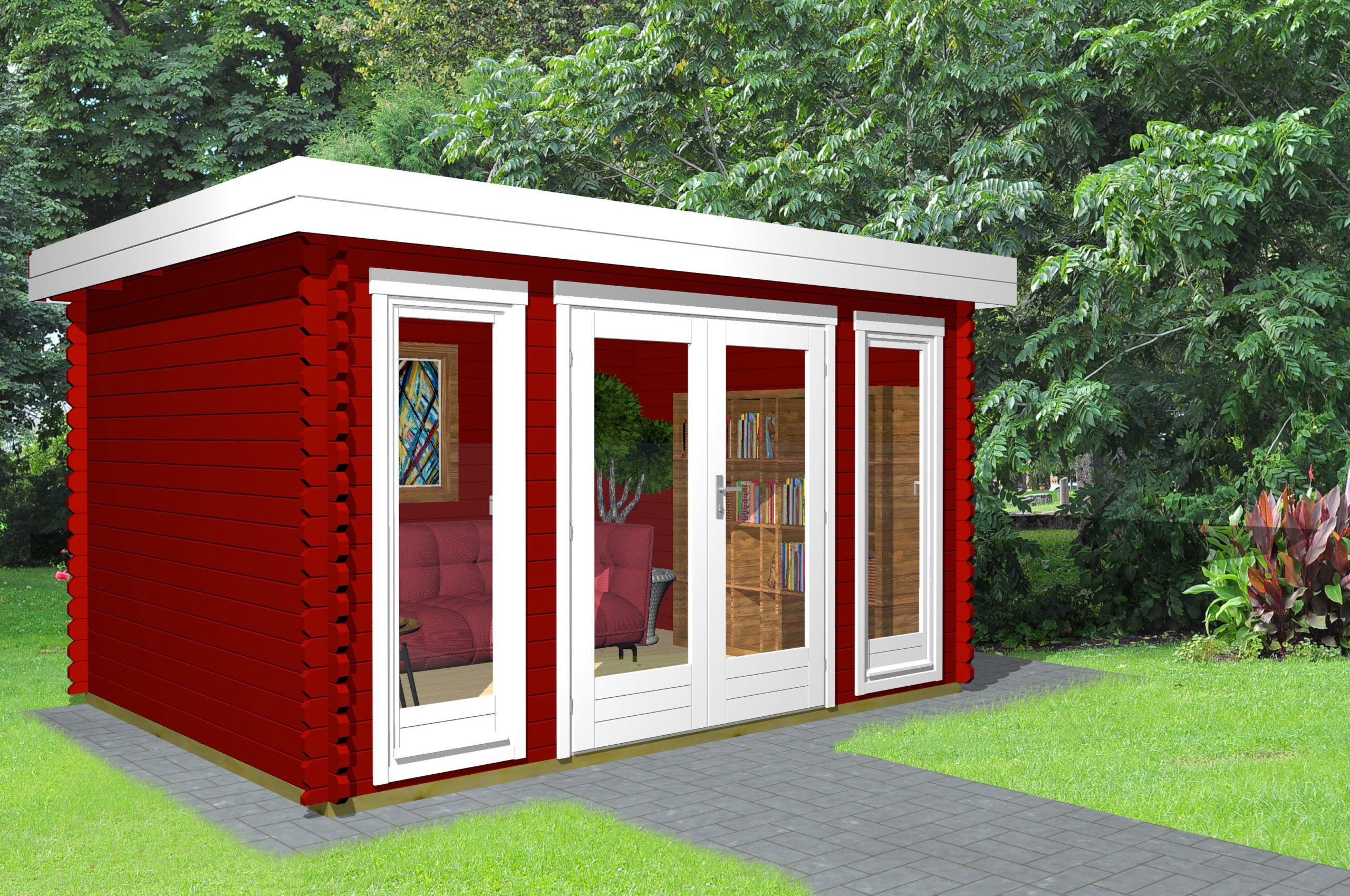 Gartenhaus Flachdach 40 mm NWH Melle 40204