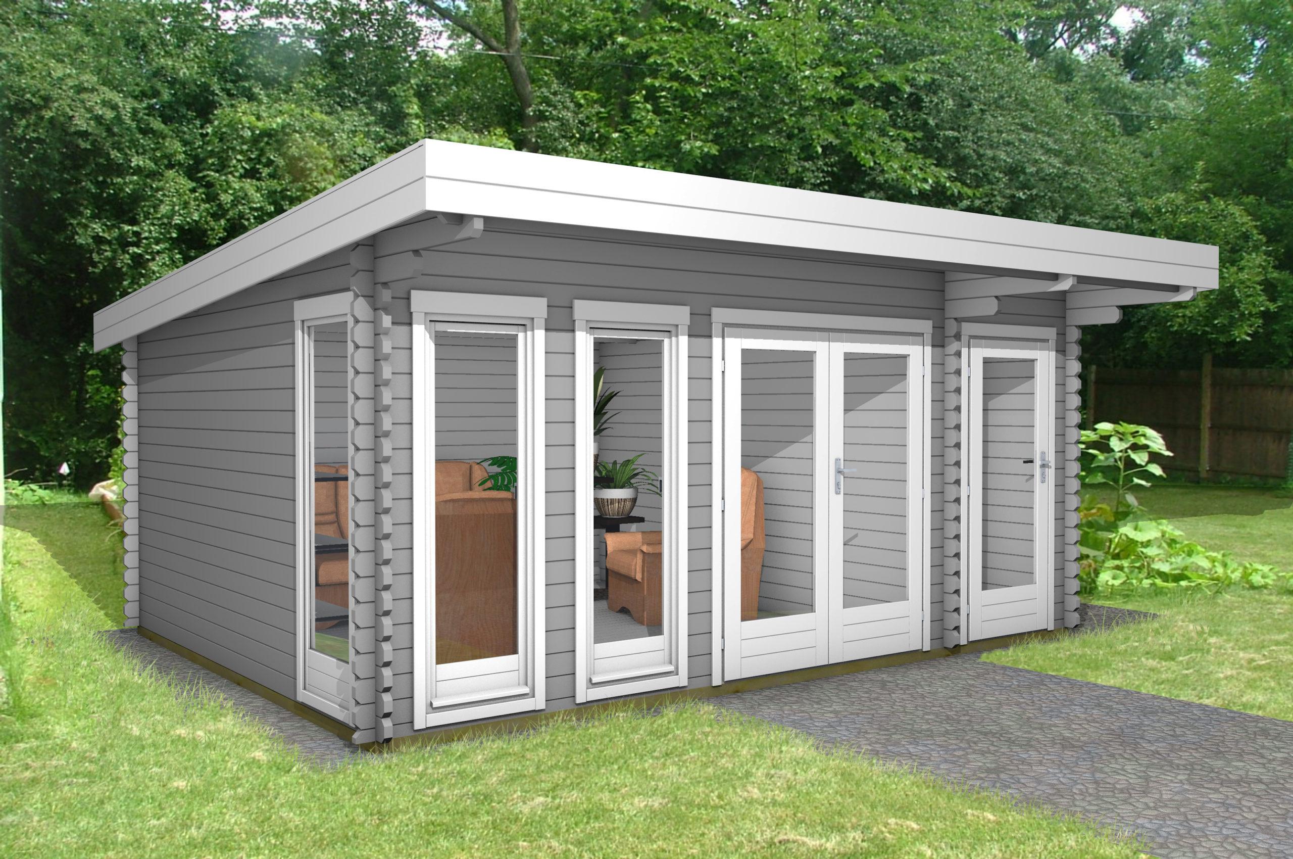 Gartenhaus Flachdach 2-Raum 40 mm NWH Lingen 40211