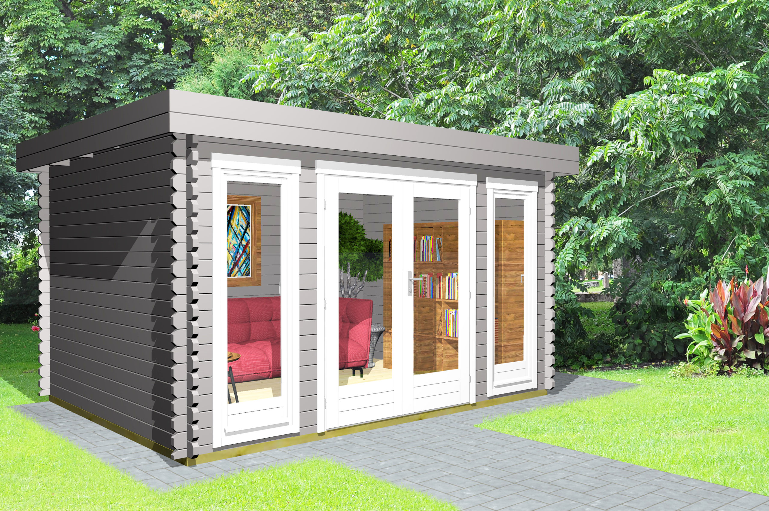 Gartenhaus Flachdach 40 mm NWH Melle 40206
