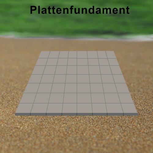 Plattenfundament